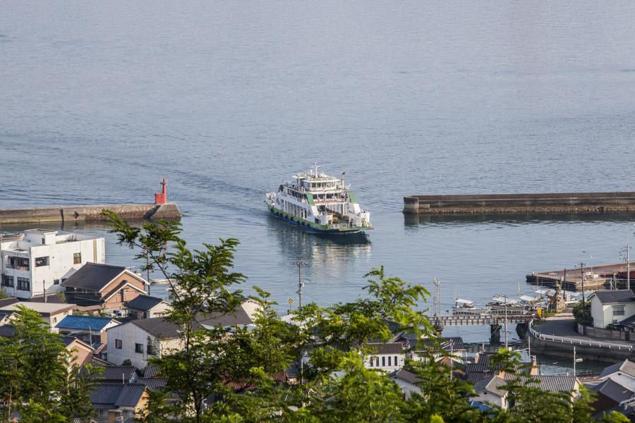 """The ferry from Tadanoumi Port to Okunoshima - also known as """"Rabbit Island."""""""