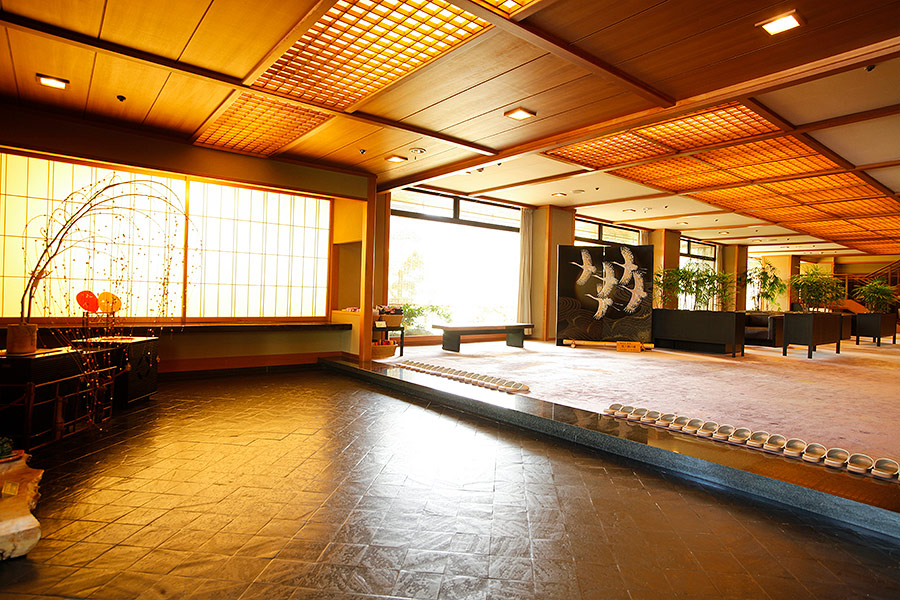 Choraku's spacious lobby area lifts your spirits the moment you enter.