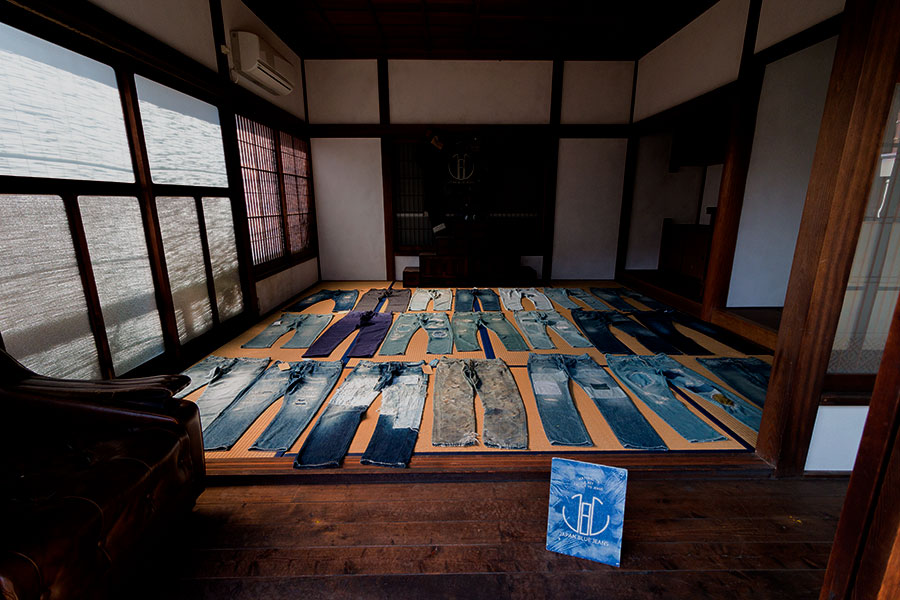 A small but impressive jeans museum at Japan Blue.