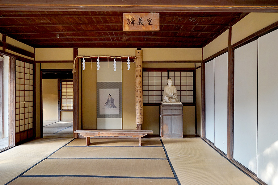 The main classroom of Shokasonjuku Academy.