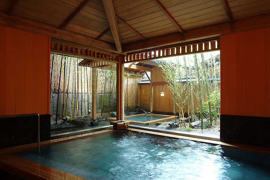Relax in the hot springs, either inside the hotel, or around the town.