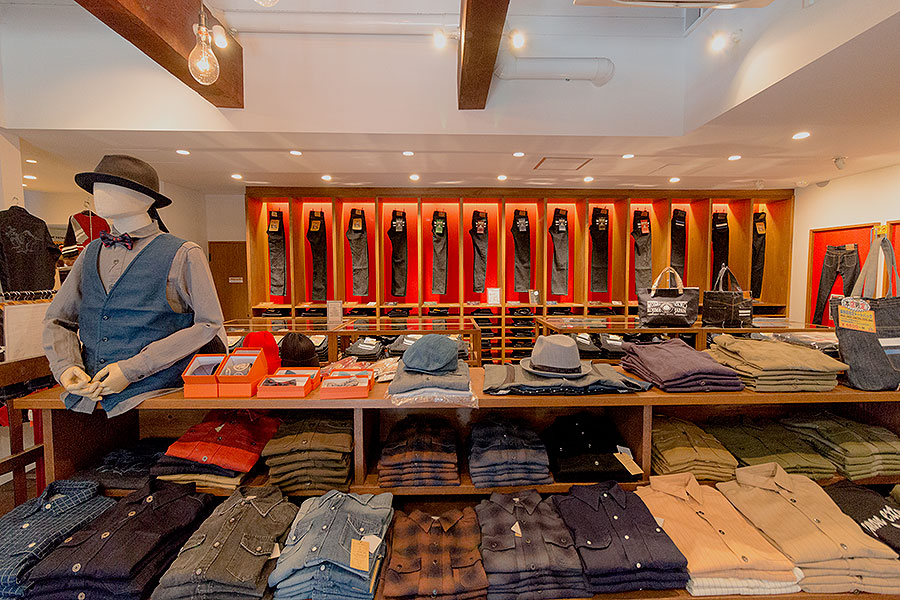 Shop floor at Momotaro Jeans.