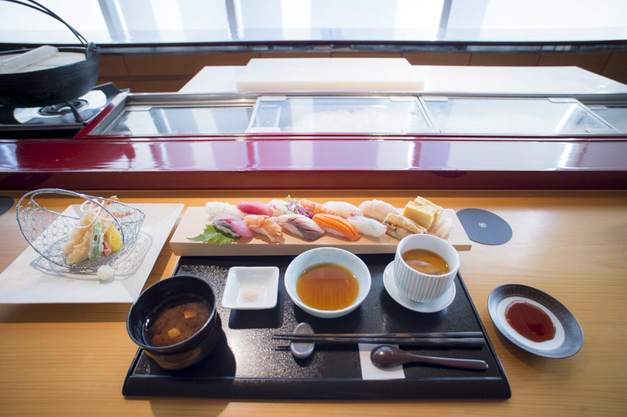 The popular sushi meal at the Miyabi-Tei restaurant inside the Sheraton.