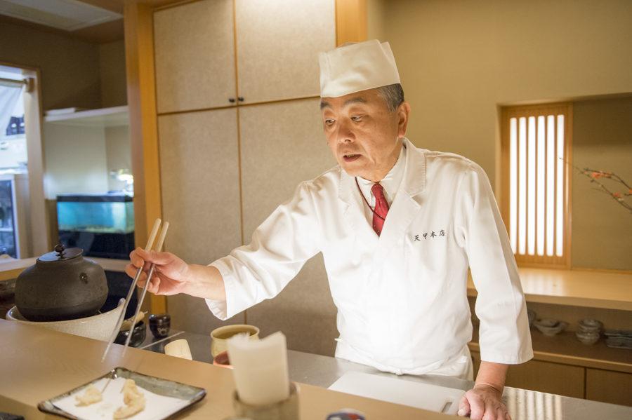 Head chef and owner Kenichi Higuchi.