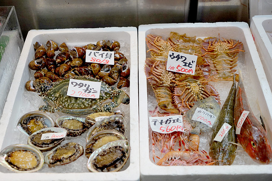 Seafood bounty from the nearby Sea of Japan.