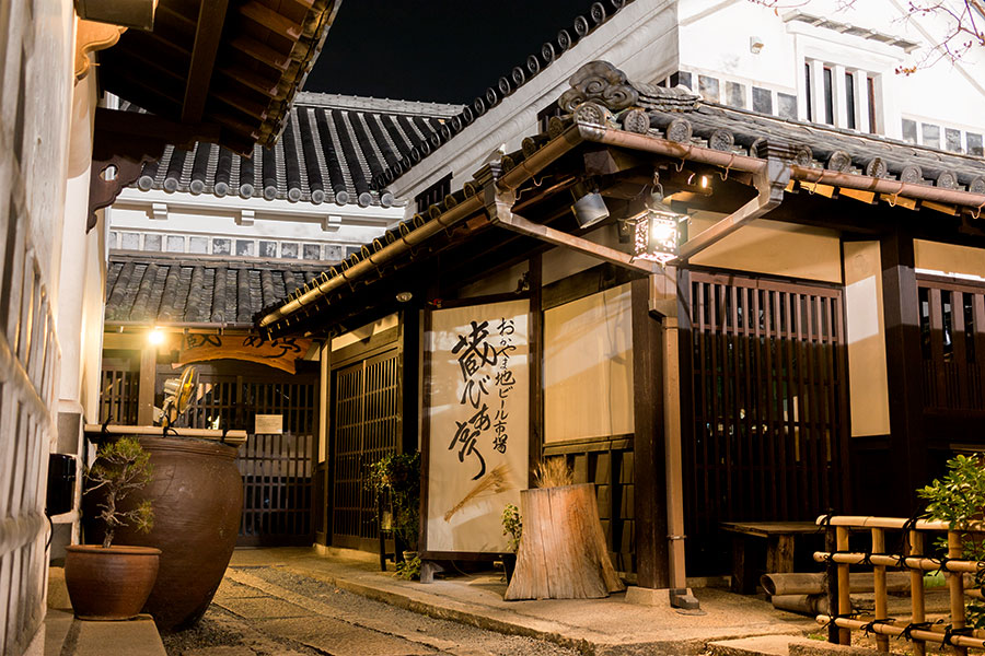 Traditional restaurants, nestled in former warehouses, stand ready to receive hungry visitors.