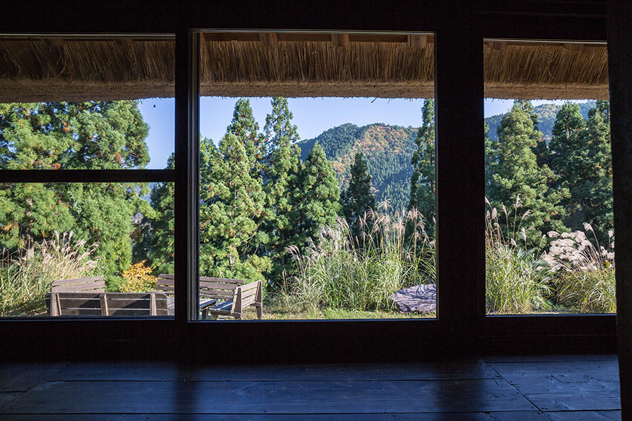 The views from the main room remind guests that nature is right on their doorstep.