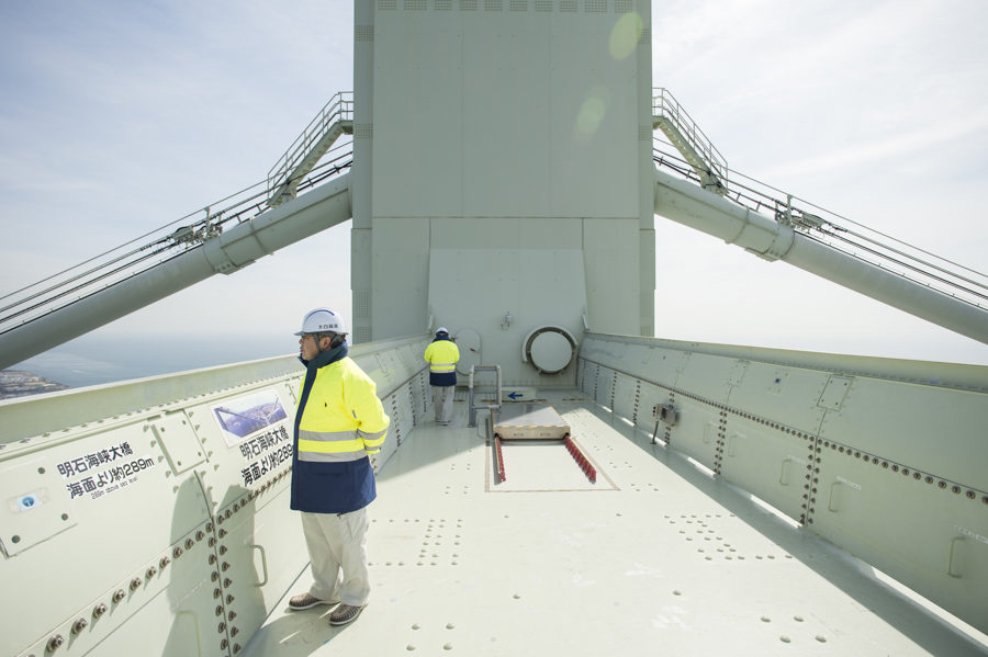 The tour uses the same elevators, walkways and hatches as the bridge operators and maintenance staff.