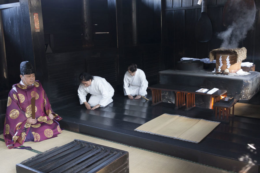 Very few shrines retain these ancient kitchens, and only Kibitsu Jinja Shrine performs this unique fortune-telling ritual.