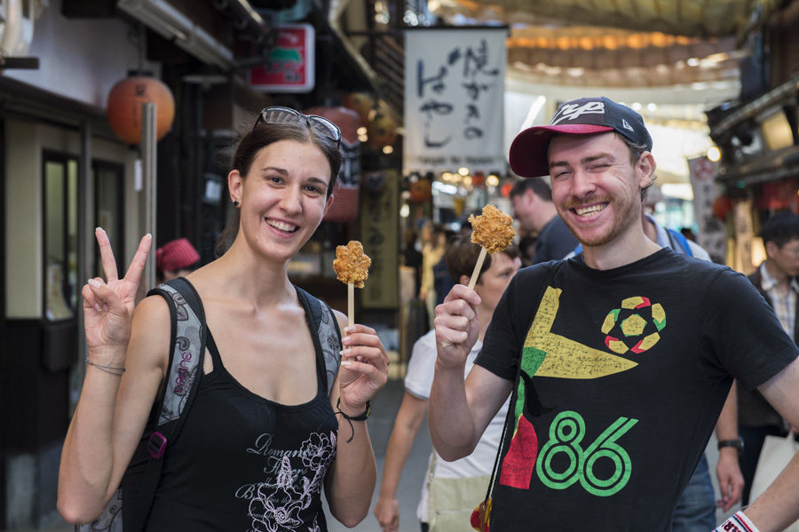 This is the new Miyajima speciality - deep-fried momiji manju cakes!