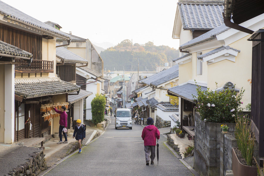 A view of Uchiko's beautifully preserved historic streets.