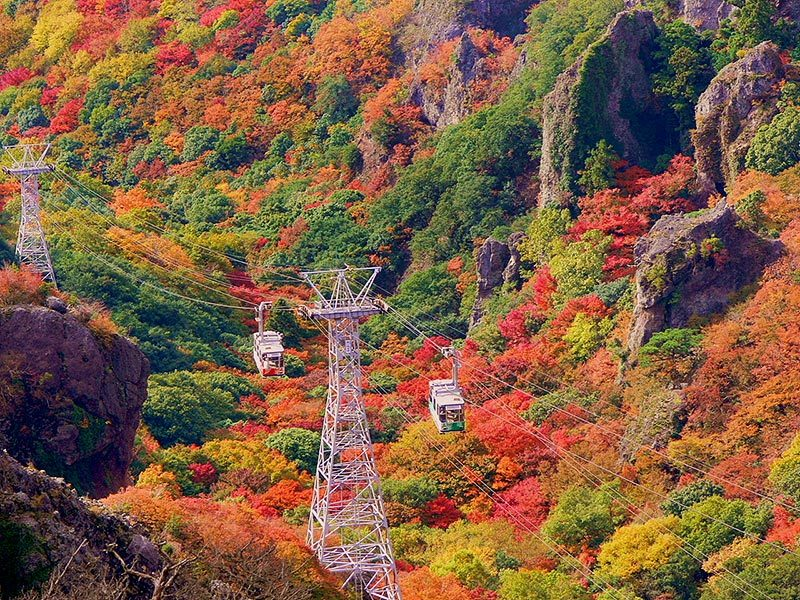 The color and dramatic rock formations of Kankakei can take your breath away.