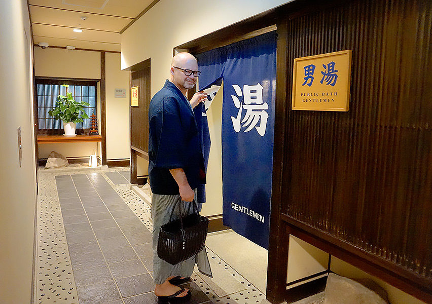 Wearing traditional yukata is one of the simple joys of staying in a ryokan.