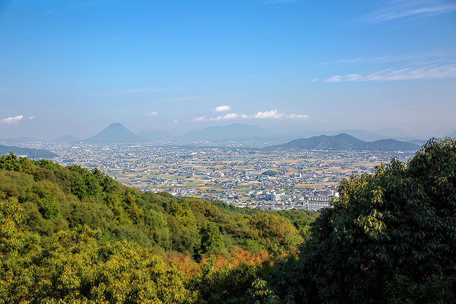 The lookout point at the main shrine complex offers a beautiful view of the town of Kotohira.