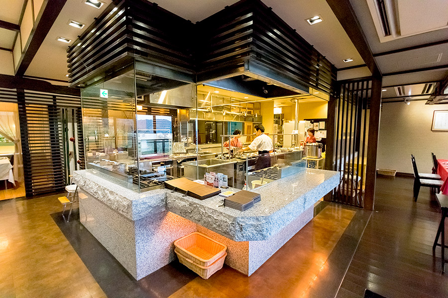 The open kitchen at Hanajukai lets you see the culinary magic firsthand.