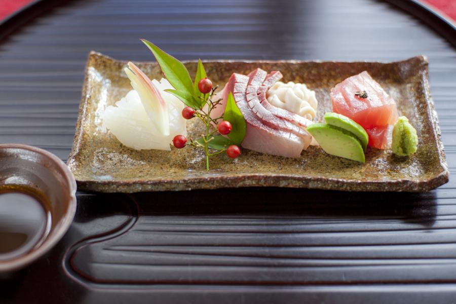 Fresh sashimi from the Seto Inland Sea.