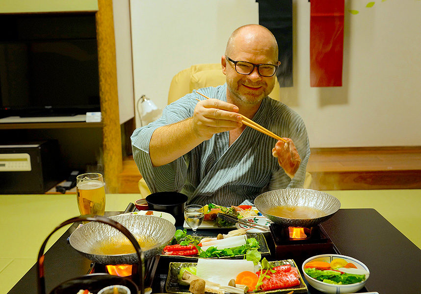 The local Hiroshima-gyu eaten as shabu-shabu hot pot just melts in your mouth.