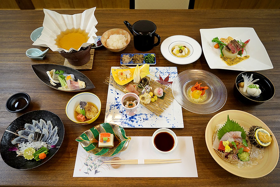 Traditional Japanese kaiseki cuisine with a French accent is a dining experience to remember.
