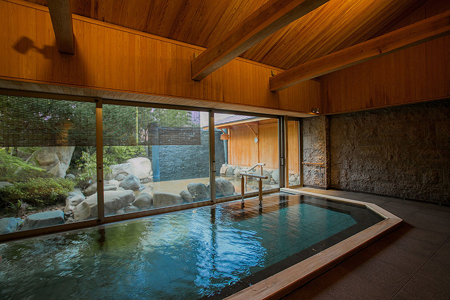 While every room has its own private bath, sometimes there is no substitute for a bigger bath for that authentic onsen experience.