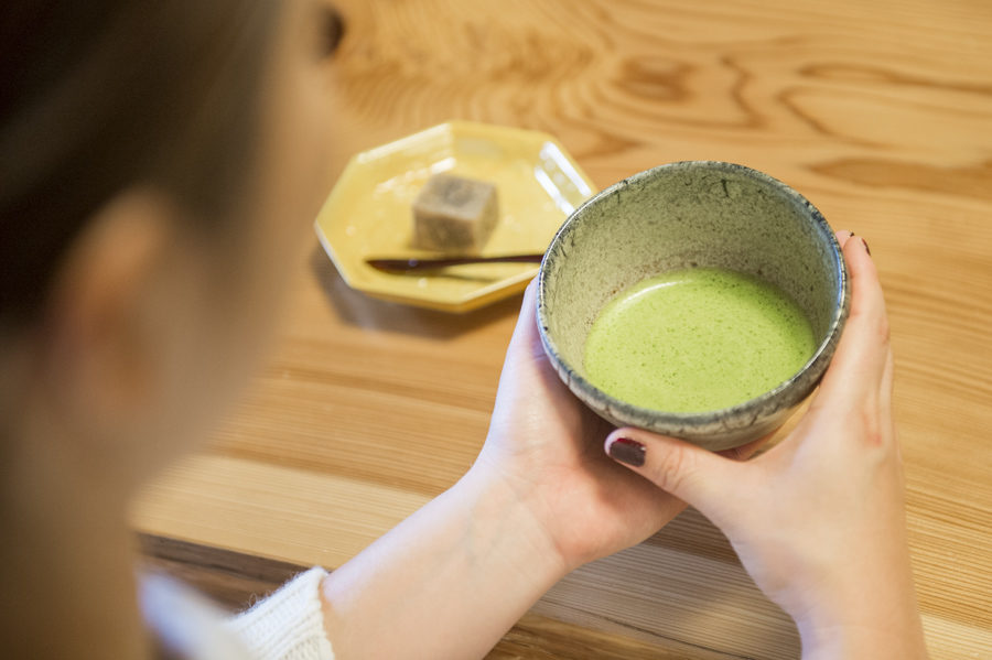 The meal finished off with freshly prepared matcha green tea.