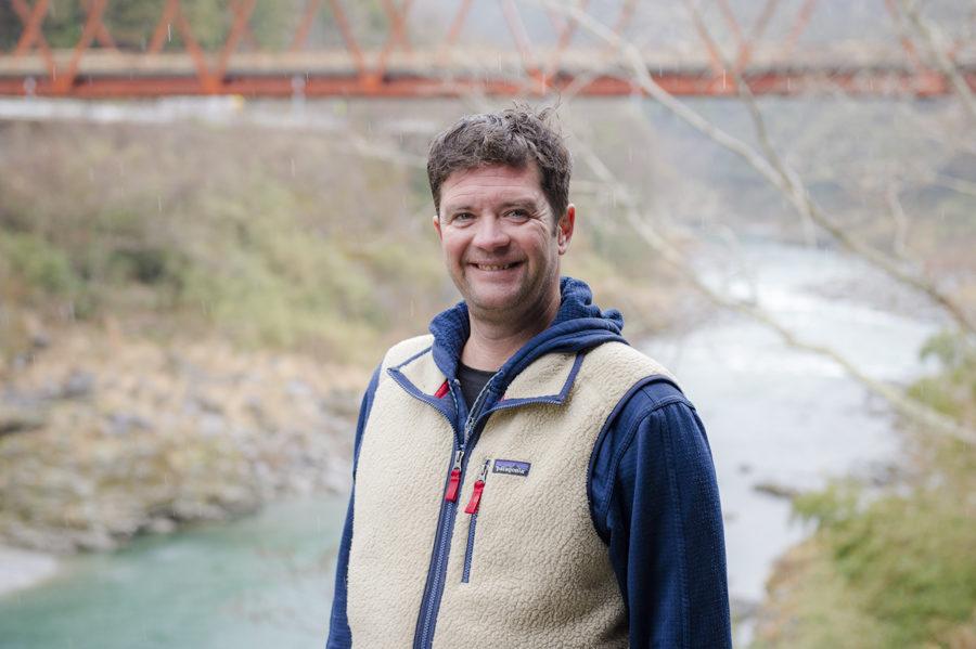 Mark Treston, founder of Happy Raft in Shikoku.