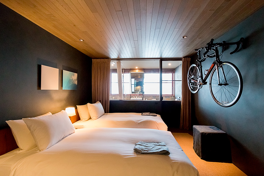 Awake to the sight of your two-wheeled steed in Cycle Hotel.