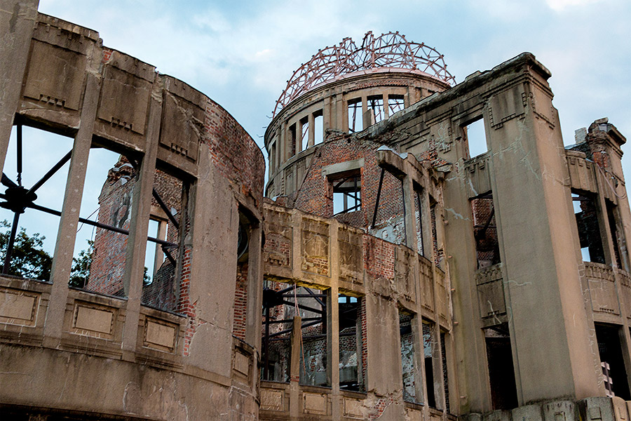 Hiroshima's A-bomb Dome, the final punctuation mark of a world at war.