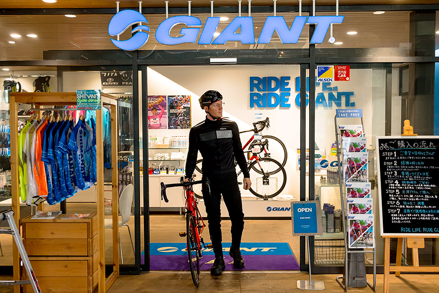 You can rent everything you need for a legit cycling trip at the Giant store on-site.