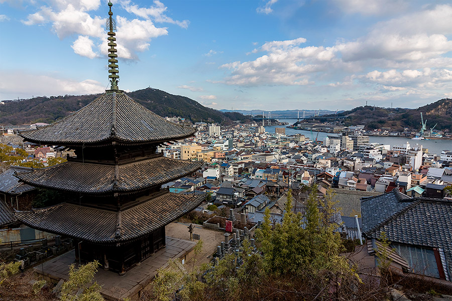"Onomichi's ""Temple Walk"" connects 25 Buddhist temples, each centuries old."