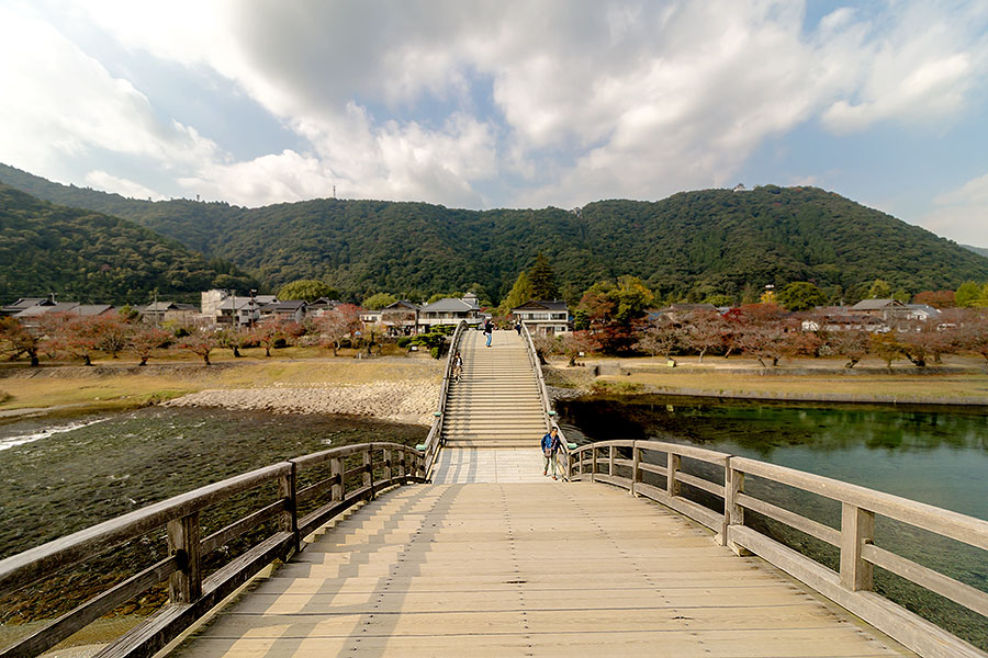 Atop the arches of Kintaikyo bridge, the view is breathtaking.