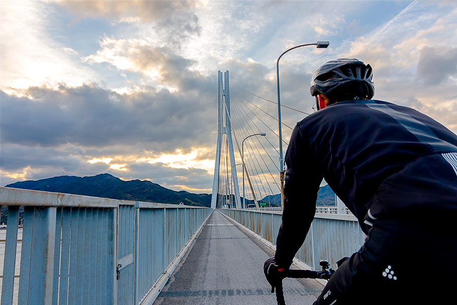 Cycling the bridges of the Shimanami Kaido delivers a breathtaking experience.