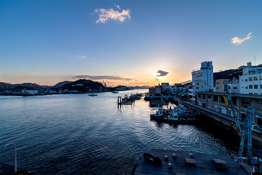 Beautiful views abound in laid back Onomichi.