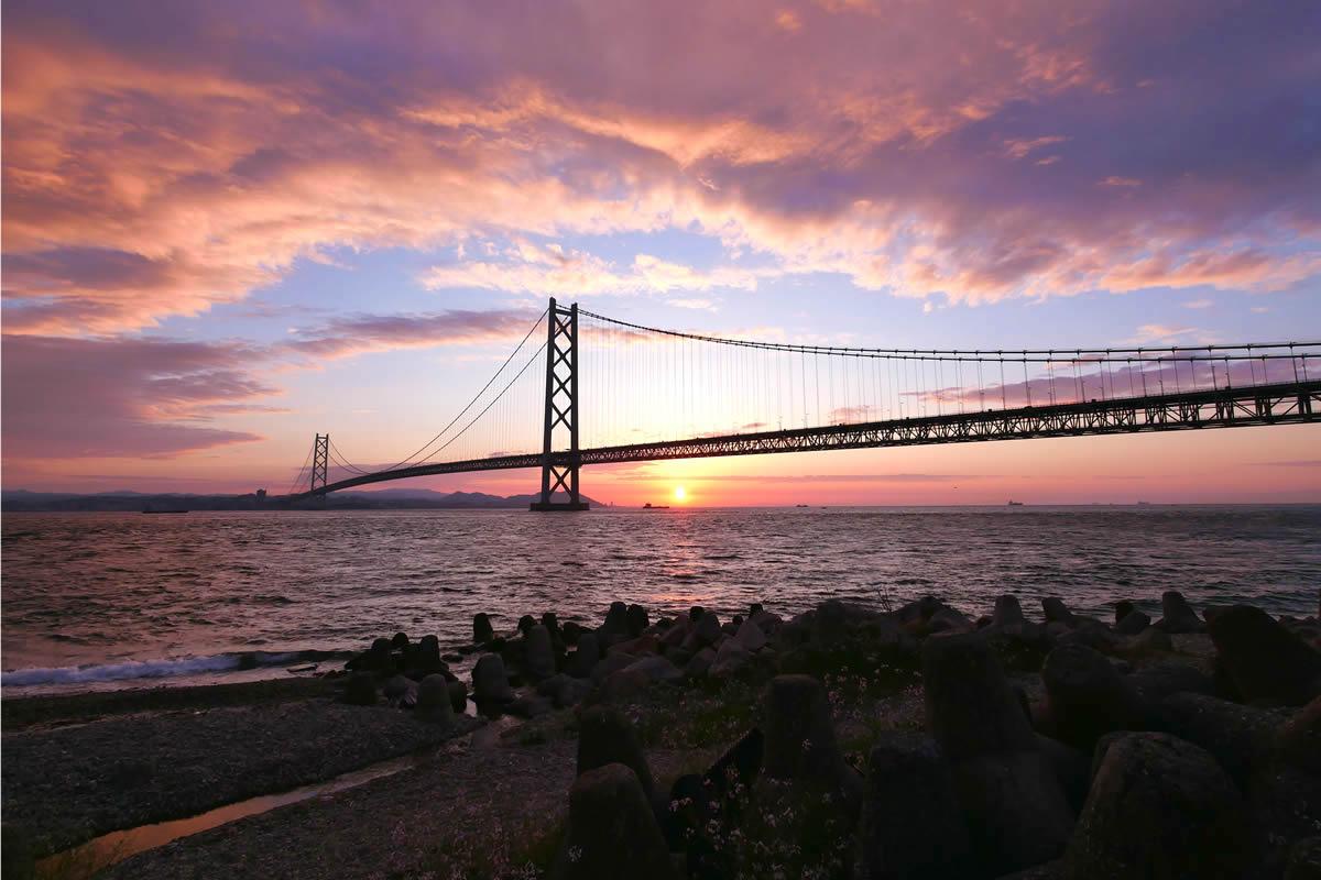 海峡 大橋 明石 明石海峡大橋 (兵庫)